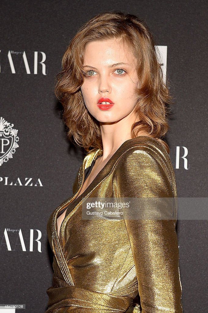Model Lindsey Wixson attends Samsung GALAXY At Harper's BAZAAR Celebrates Icons By Carine Roitfeld at The Plaza Hotel on September 5 2014 in New York...