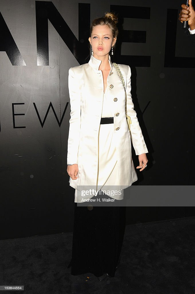 Model Lindsey Wixson attends the celebration of CHANEL FINE JEWELRY'S 80th anniversary of the 'Bijoux De Diamants' collection created by Gabrielle Chanel on October 9, 2012 in New York City.