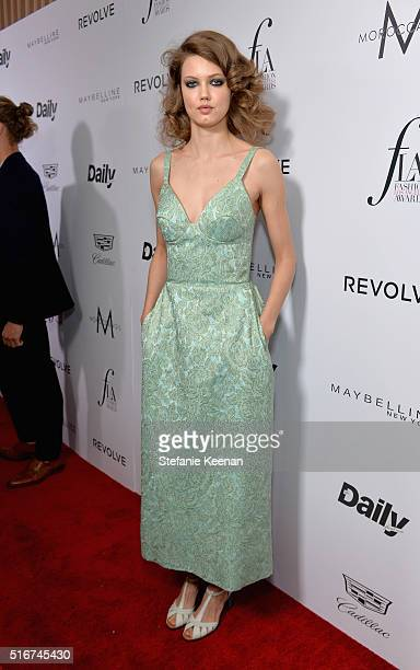 Model Lindsey Wixson attends The Daily Front Row 'Fashion Los Angeles Awards' 2016 at Sunset Tower Hotel on March 20 2016 in West Hollywood California
