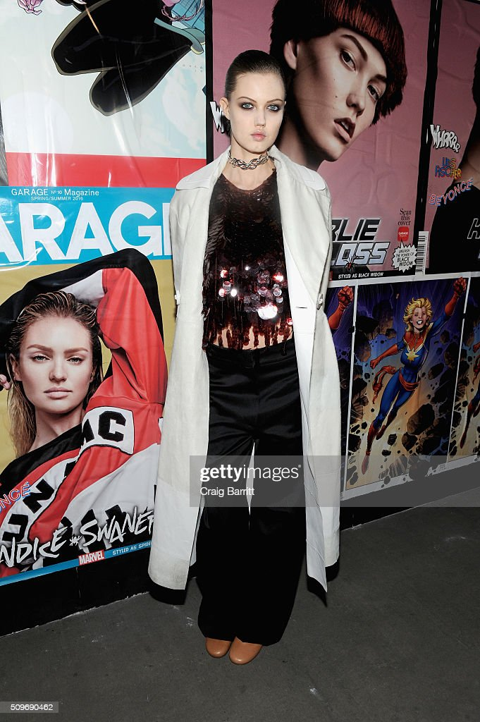 Model Lindsey Wixson attends the Marvel and Garage Magazine New York Fashion Week Event on February 11, 2016 in New York City.