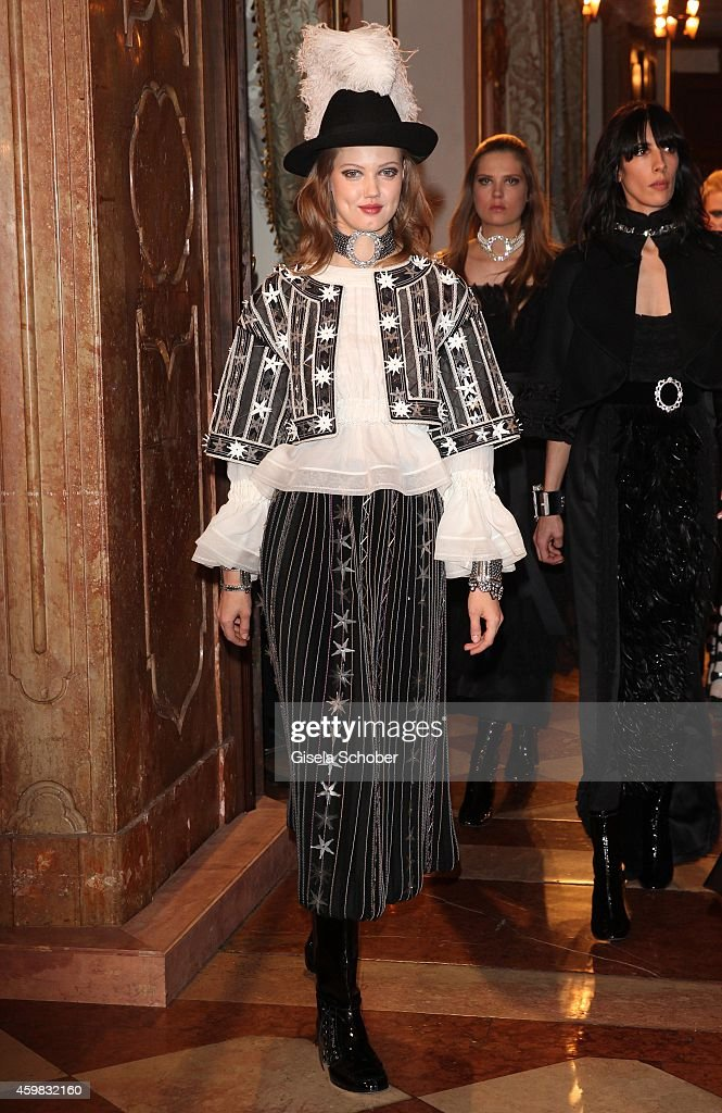 Model Lindsey Wixson during the Chanel Metiers d'Art Collection 2014/15 ParisSalzburg on December 2 2014 in Salzburg Austria