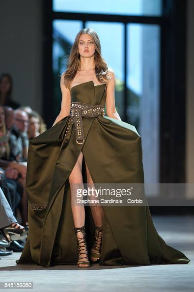 Model Lindsey Wixson walks the runway during the Alexandre Vauthier Prive Haute Couture Fall/Winter 20162017 show as part of Paris Fashion Week on...
