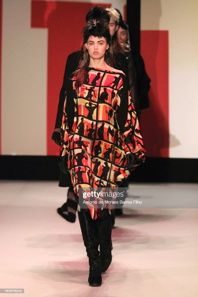 Model Lindsey Wixson walks the runway during the Jean Paul Gaultier Fall/Winter 2013 Ready-to-Wear show as part of Paris Fashion Week on March 2, 2013 in Paris, France.