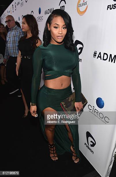 Model Lira Galore attends the ALL Def Movie Awards at Lure Nightclub on February 24 2016 in Hollywood California