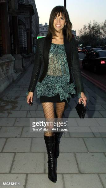 Model Lisa B arriving at Il Bottaccio in London to launch the Givenchy Pour Homme fragrance