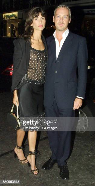 Model Lisa B with her partner Anton arrive at San Lorenzo in London for a private dinner to celebrate the opening of a new concession at Harvey...