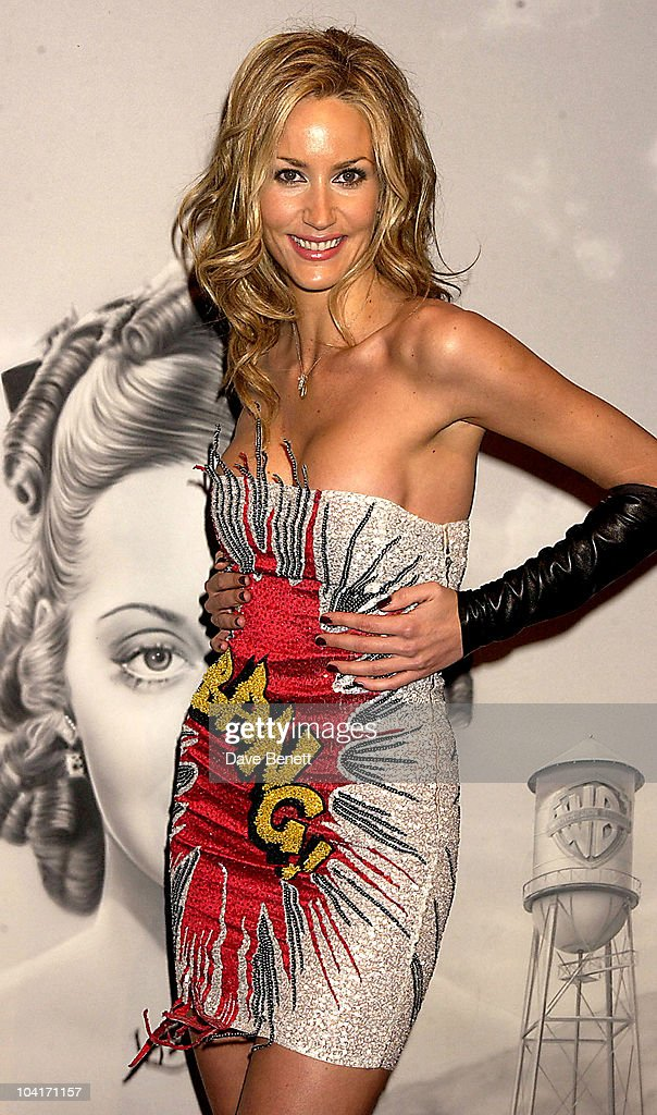 Model Lisa Butcher Wearing A Scott Henshall Dress, 'The Banger Sisters' Movie Premiere Held At The Warner West End, Then The Party At Jewel In Picadilly, London