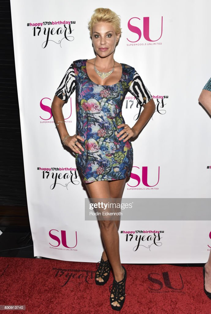 Model Lisa D'Amato attends SU Magazine's 17th Anniversary Celebration at Avalon on August 12, 2017 in Hollywood, California.