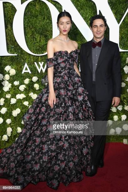 Model Liu Wen and Zac Posen attend the 2017 Tony Awards at Radio City Music Hall on June 11 2017 in New York City