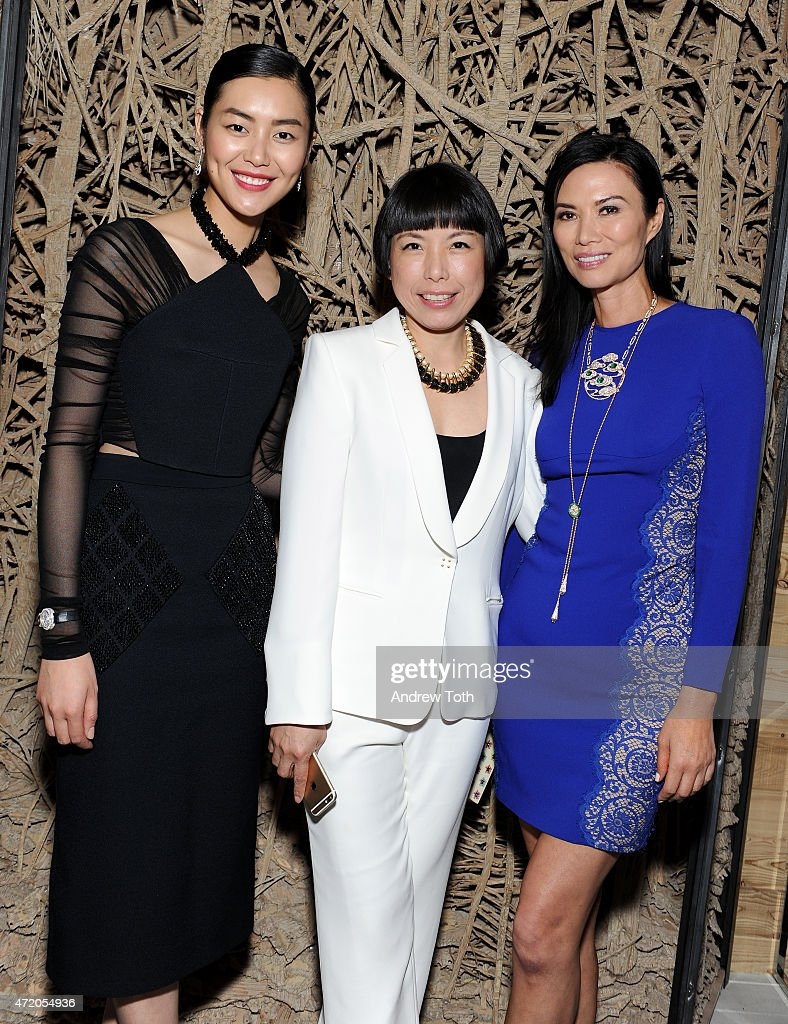 Model Liu Wen Angelica Cheung and Wendi Murdoch attend Liu Wen Wendi Murdoch Laurent Claquin x Qeelin Host A Private Cocktail Party To Celebrate The...