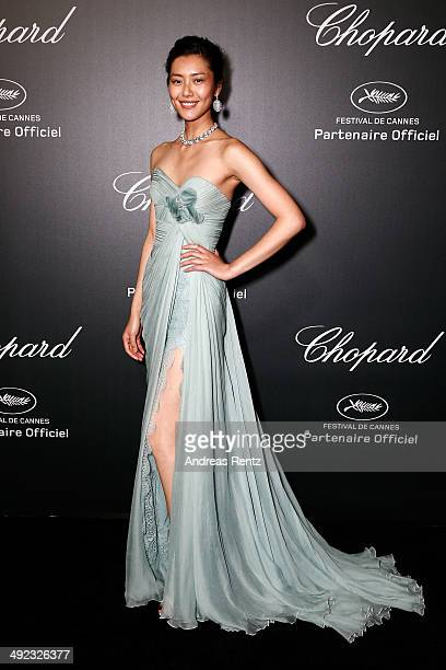 Model Liu Wen arrives to the Chopard Backstage Dinner Afterparty at the CannesMandelieu Aerodrome during the 67th Annual Cannes Film Festival on May...