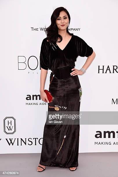 Model Liu Wen attends amfAR's 22nd Cinema Against AIDS Gala Presented By Bold Films And Harry Winston at Hotel du CapEdenRoc on May 21 2015 in Cap...