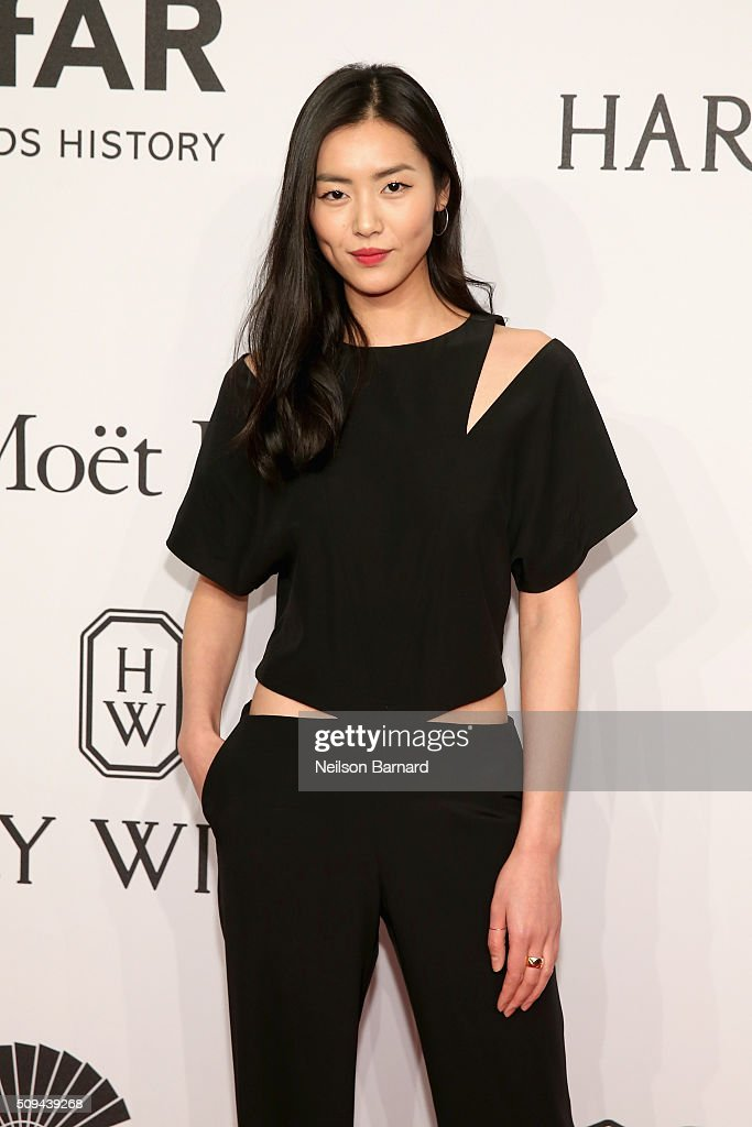 Model <a gi-track='captionPersonalityLinkClicked' href=/galleries/search?phrase=Liu+Wen&family=editorial&specificpeople=5523814 ng-click='$event.stopPropagation()'>Liu Wen</a> attends the 2016 amfAR New York Gala at Cipriani Wall Street on February 10, 2016 in New York City.