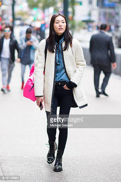 Model Liu Wen attends the 2016 Victoria's Secret Fashion Show model fittings on October 29 2016 in New York City