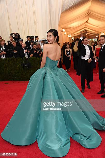 Model Liu Wen attends the 'Charles James Beyond Fashion' Costume Institute Gala at the Metropolitan Museum of Art on May 5 2014 in New York City