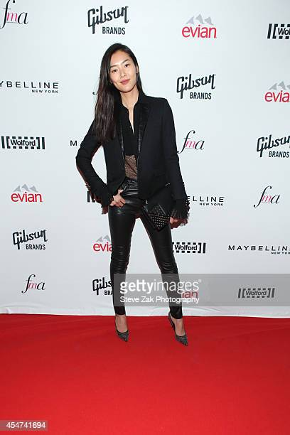 Model Liu Wen attends The Daily Front Row Second Annual Fashion Media Awards at Park Hyatt New York on September 5 2014 in New York City