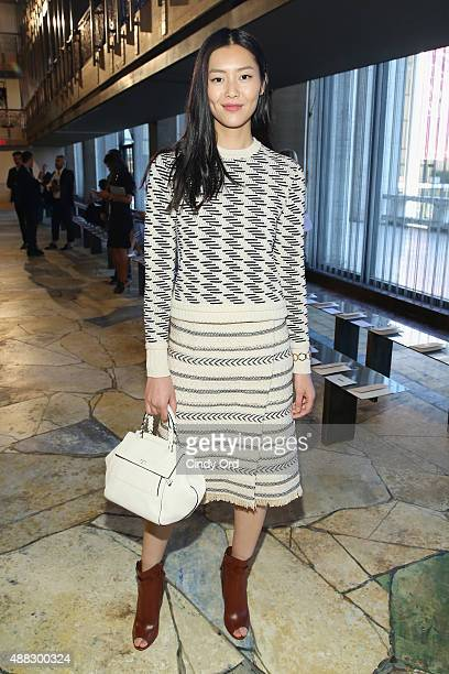 Model Liu Wen attends Tory Burch Spring 2016 at Avery Fisher Hall at Lincoln Center for the Performing Arts on September 15 2015 in New York City