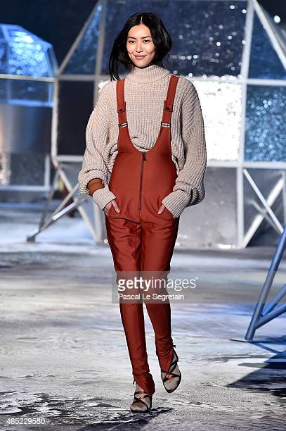 Model Liu Wen walks the runway during the HM show as part of the Paris Fashion Week Womenswear Fall/Winter 2015/2016 on March 4 2015 in Paris France