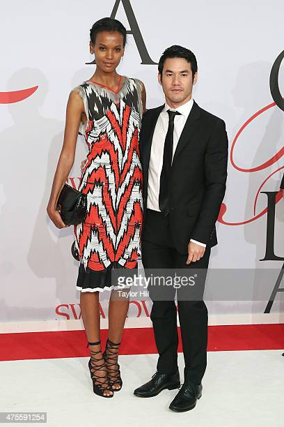 Model Liya Kebede and designer Altuzarra attend the 2015 CFDA Awards at Alice Tully Hall at Lincoln Center on June 1 2015 in New York City