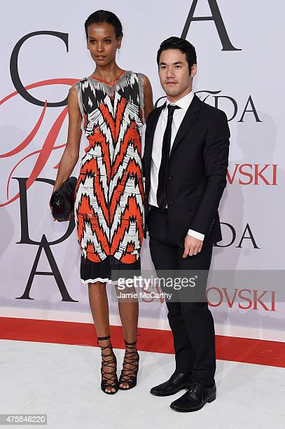 Model Liya Kebede and Designer Joseph Altuzarra attend the 2015 CFDA Fashion Awards at Alice Tully Hall at Lincoln Center on June 1 2015 in New York...