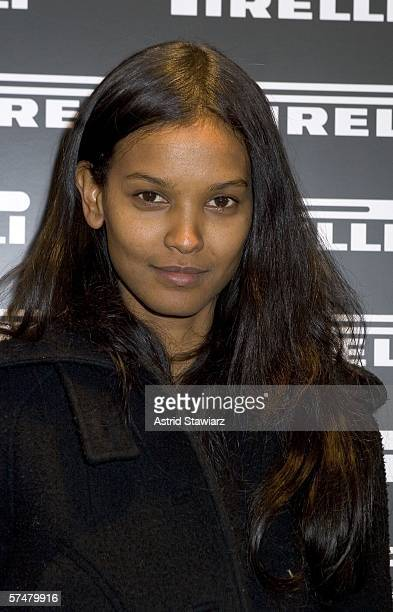 Model Liya Kebede attends the Backstage Of Pirelli Calendars 19642006 Book Launch Party held at the Guggenheim Museum April 27 2006 in New York City