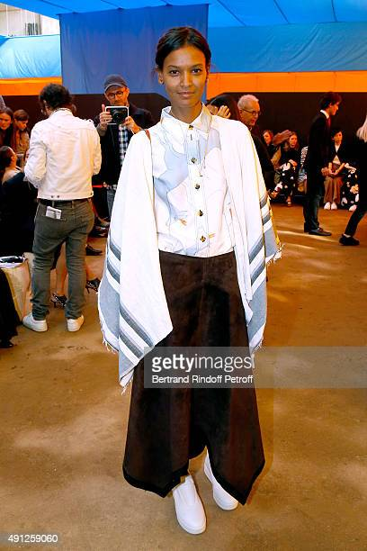 Model Liya Kebede attends the Celine show as part of the Paris Fashion Week Womenswear Spring/Summer 2016 on October 4 2015 in Paris France