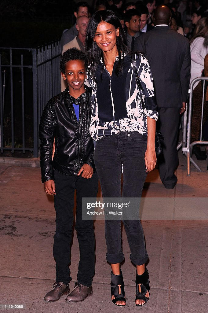 Model <a gi-track='captionPersonalityLinkClicked' href=/galleries/search?phrase=Liya+Kebede&family=editorial&specificpeople=220361 ng-click='$event.stopPropagation()'>Liya Kebede</a> (R) attends the Cinema Society & Calvin Klein Collection screening of 'The Hunger Games' at SVA Theatre on March 20, 2012 in New York City.