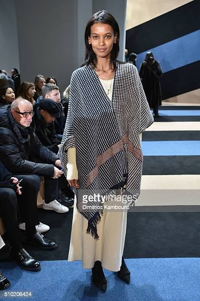 Model Liya Kebede attends the Derek Lam Fall 2016 fashion show during New York Fashion Week The Shows at The Gallery Skylight at Clarkson Sq on...