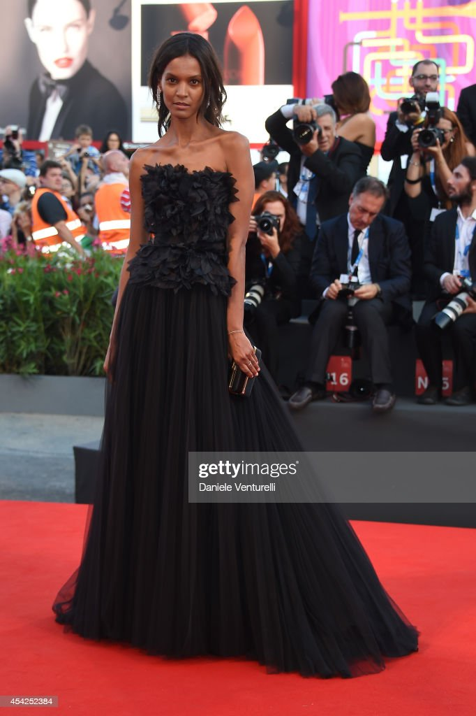 Model Liya Kebede attends the Opening Ceremony and 'Birdman' premiere during the 71st Venice Film Festival at Palazzo Del Cinema on August 27 2014 in...