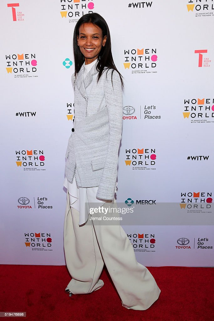 Model Liya Kebede attends Tina Brown's 7th Annual Women In The World Summit Opening Night at David H. Koch Theater at Lincoln Center on April 6, 2016 in New York City.