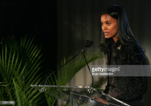 Model Liya Kebede speaks at the Kagenoorg benefit at Guastavino's October 30 2006 in New York City