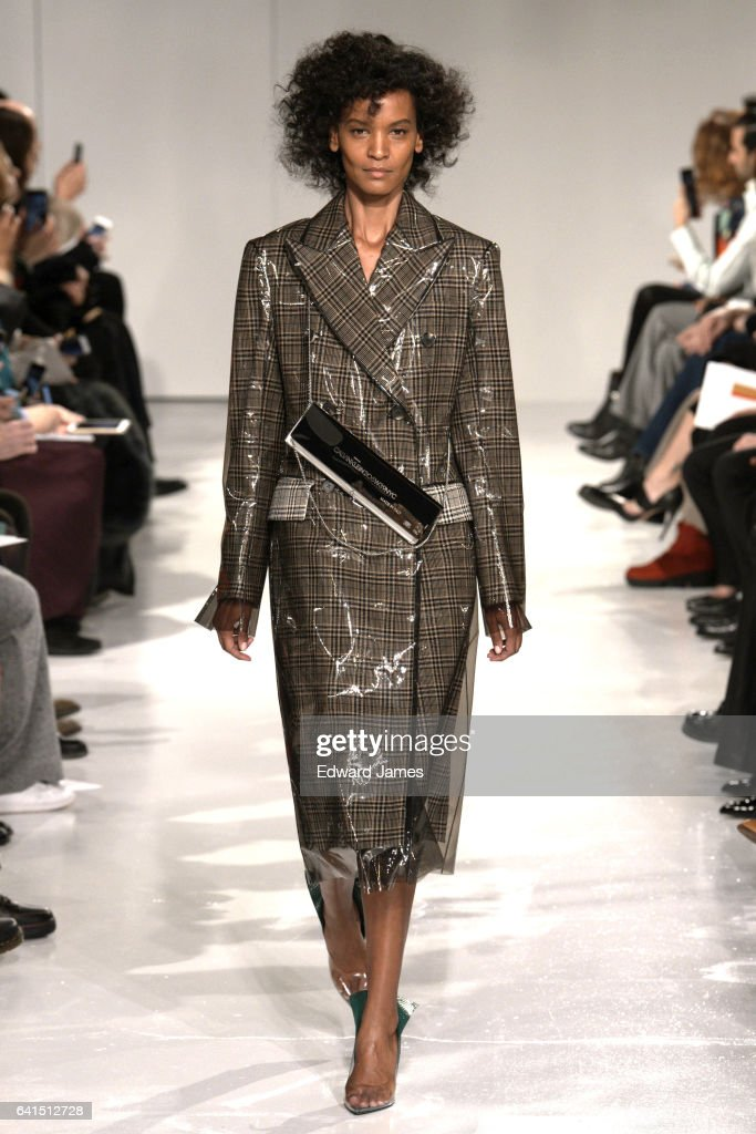 Model Liya Kebede walks the runway during the Calvin Klein Fall/Winter 2017/2018 collection fashion show on February 10, 2017 in New York City.