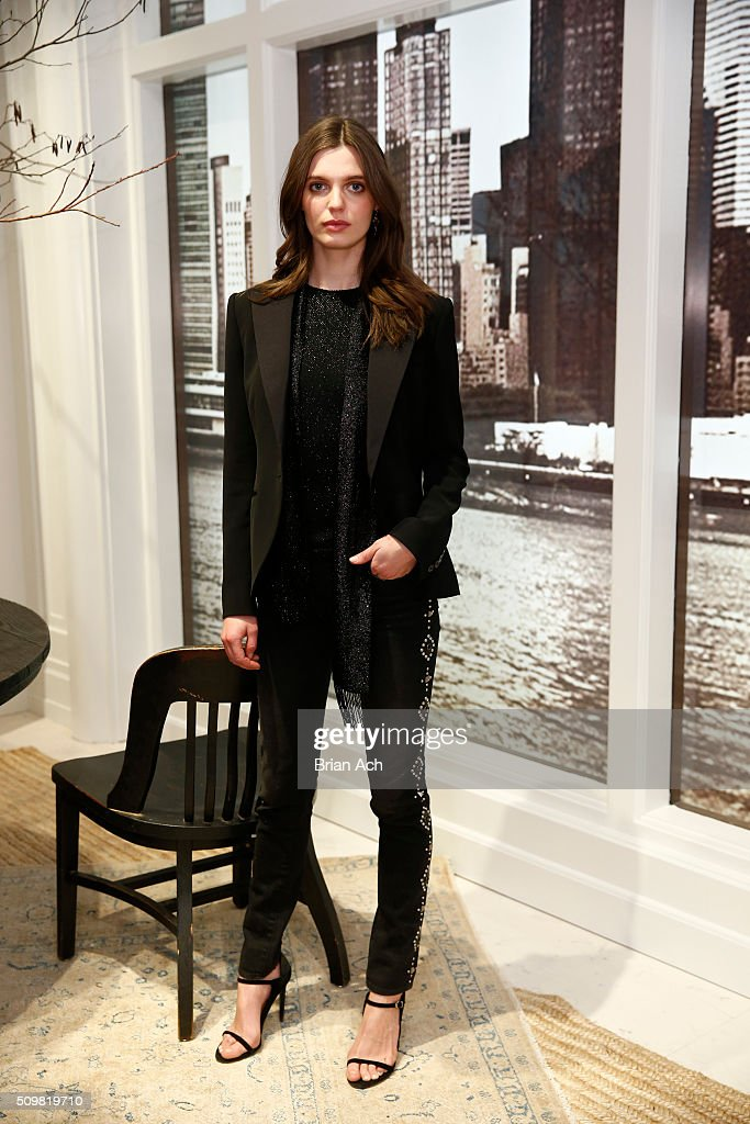 Model Lola McDonnell attends Polo Ralph Lauren Fall 2016 during New York Fashion Week on February 12, 2016 in New York City.