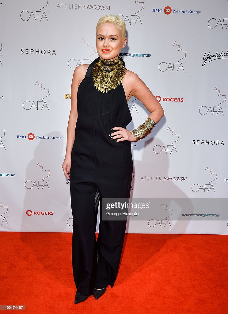 Model Lolita Dandoy arrives at the 1st Annual Canadian Arts and Fashion Awards at the Fairmont Royal York Hotel on February 1, 2014 in Toronto, Canada.