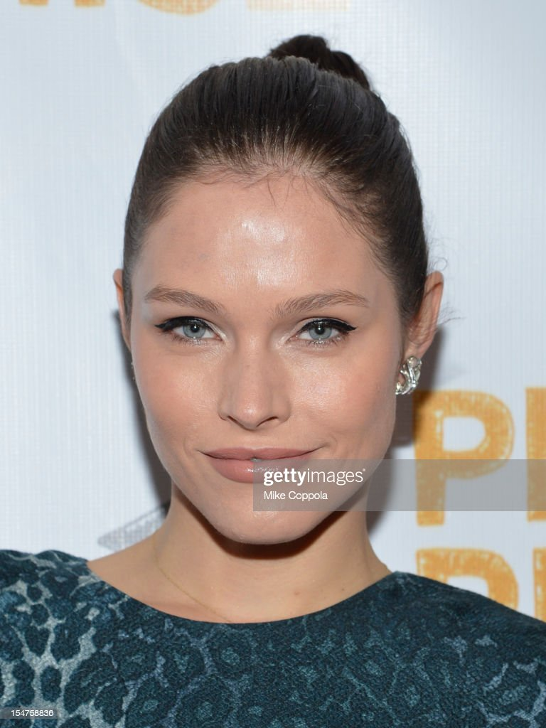 Model Lonneke Engel attends the second annual Pencils of Promise Gala at Guastavino's on October 25, 2012 in New York City.