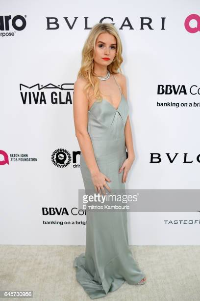 Model Lottie Moss attends the 25th Annual Elton John AIDS Foundation's Academy Awards Viewing Party at The City of West Hollywood Park on February 26...