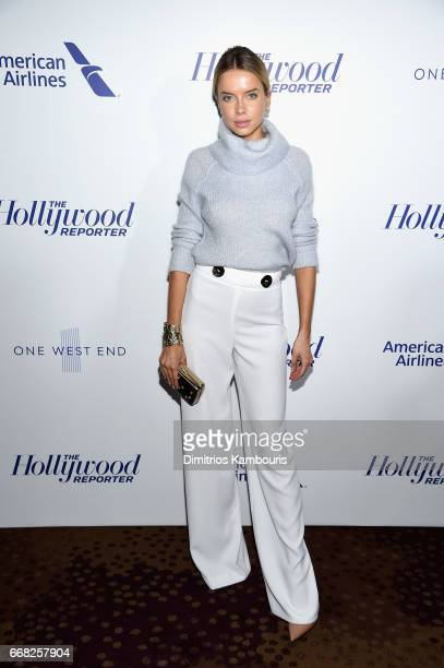 Model Louisa Warwick attends The Hollywood Reporter 35 Most Powerful People In Media 2017 at The Pool on April 13 2017 in New York City