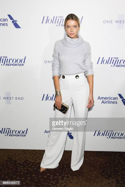 Model Louisa Warwick attends The Hollywood Reporter's 35 Most Powerful People In Media 2017 at The Pool on April 13 2017 in New York City