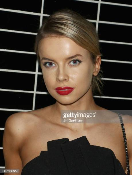 Model Louisa Warwick attends the screening after party of Sony Pictures Classics' 'Norman' hosted by The Cinema Society with NARS AVION at The...