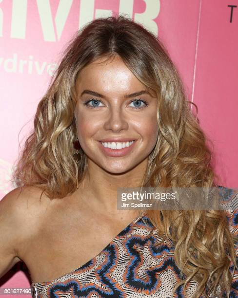 Model Louisa Warwick attends the screening of 'Baby Driver' hosted by TriStar Pictures with The Cinema Society and Avion at The Metrograph on June 26...