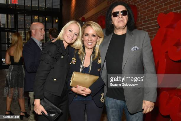 Model Louise Camuto Jackie Harris Musican Gene Simmons attend the fashion week celebration with DuJour Magazine hosted by Cindy Crawford and Rande...