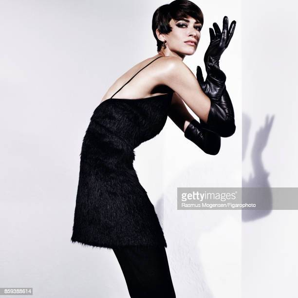 Model poses at a fashion shoot for Madame Figaro on September 6 2017 in Paris France Dress and tights earrings gloves PUBLISHED IMAGE CREDIT MUST...