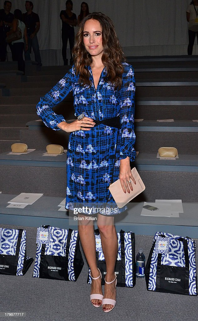Model Louise Roe attends the Richard Chai -- Love & Richard Chai Men's show during Spring 2014 Mercedes-Benz Fashion Week at The Stage at Lincoln Center on September 5, 2013 in New York City.