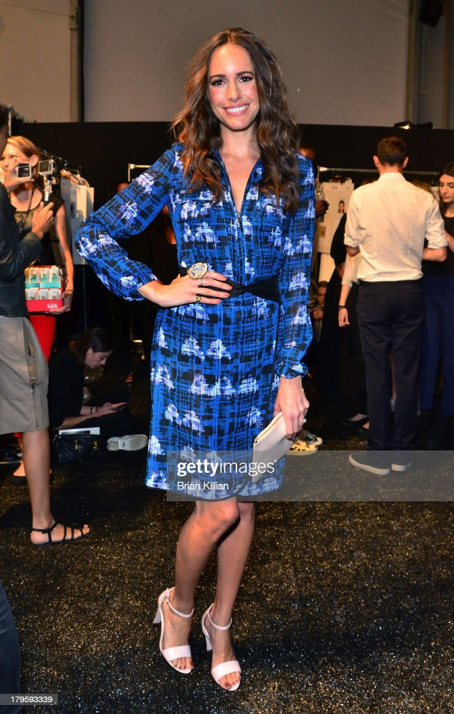 Model <a gi-track='captionPersonalityLinkClicked' href=/galleries/search?phrase=Louise+Roe&family=editorial&specificpeople=4300958 ng-click='$event.stopPropagation()'>Louise Roe</a> attends the Richard Chai -- Love & Richard Chai Men's show during Spring 2014 Mercedes-Benz Fashion Week at The Stage at Lincoln Center on September 5, 2013 in New York City.