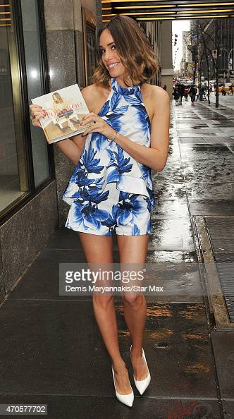 Model Louise Roe is seen on April 21 2015 in New York City