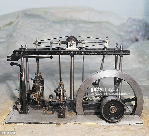 Model low pressure steam engine ca 1784 designed by James Watt United Kingdom 18th19th century Milan Museo Nazionale Della Scienza E Della Tecnica...