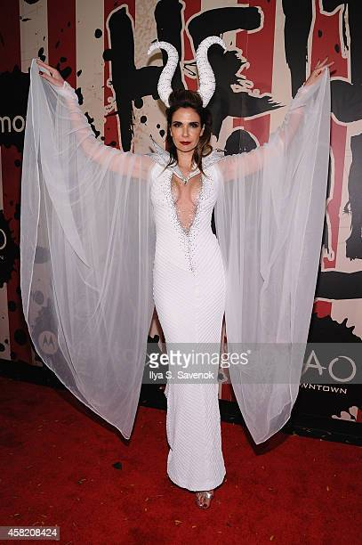 Model Luciana Gimenez attends Moto X presents Heidi Klum's 15th Annual Halloween Party sponsored by SVEDKA Vodka at TAO Downtown on October 31 2014...