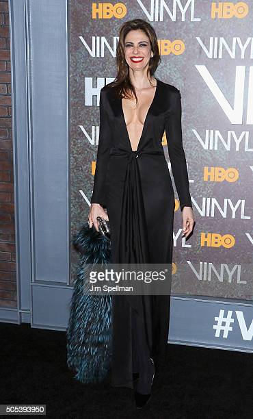 Model Luciana Gimenez attends the 'Vinyl' New York premiere at Ziegfeld Theatre on January 15 2016 in New York City