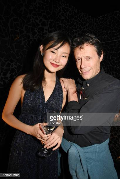 Model Ludan Zhang and Antoine de Maximy attend 'Le Temps Retrouve' Party at Les Bains on November 17 2017 in Paris France