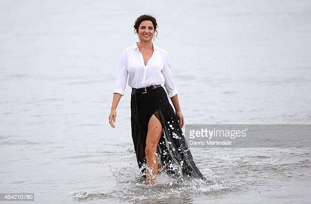 Model Luisa Ranieri attends a photocall to start the 71st Venice Film Festival on August 26 2014 in Venice Italy